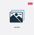two color gallery icon from user interface vector image vector image