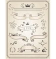 Vintage Wedding graphic set vector image vector image