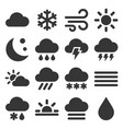 weather icons set on white background vector image vector image
