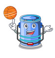with basketball cylinder bucket cartoon of for vector image