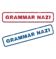 Grammar Nazi Rubber Stamps vector image