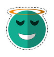 angel emoticon style cut line vector image vector image