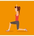 beautiful girl fitness exercise icon vector image
