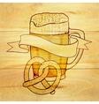 Beer and pretzel background vector image vector image