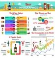 Beer Infographics Set vector image vector image