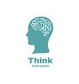 brain logo design vector image vector image