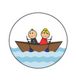 cartoon couple arguing and quarreling vector image vector image