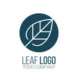 circle leaf logo icon design landscape design vector image