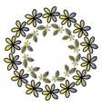 circular floral decorative frame vector image vector image