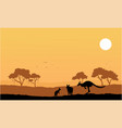 collection kangaroo on the hill scenery vector image vector image