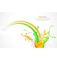 Colorful Splash of India Tricolor vector image vector image