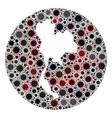 coronavirus stencils round thailand mosaic vector image vector image