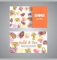 creative cards with flowers hand drawn floral vector image vector image