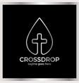 cross drop logo - christ blood vector image vector image