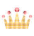 crown halftone icon vector image