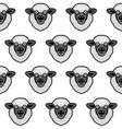 cute black sheep face seamless pattern vector image vector image