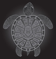 Decorative graphic turtle tribal totem animal vector image