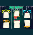 education school timetable with monster mouths vector image