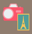 eiffel tower with photo camera vector image