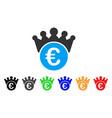 euro crown icon vector image