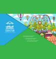 flat colorful amusement park composition vector image