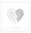 Geometric Card - Heart Shape vector image vector image