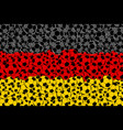 germany flag consisting of football balls vector image
