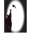 Graduate with mortar vector | Price: 1 Credit (USD $1)