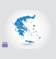 greece map design with 3d style blue greece map vector image vector image
