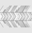 grey abstract arrows technology background vector image vector image