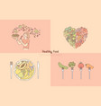 healthy eating fruit and vegetables meal vector image vector image