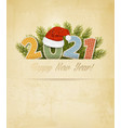 holiday christmas and new year background with vector image