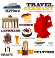 infographic elements for traveling to germany vector image