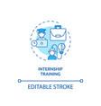 internship training concept icon vector image vector image