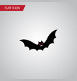 isolated bat flat icon superstition vector image