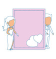 isolated newlywed couple love vector image vector image