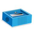 isolated of pencil sharpener vector image vector image