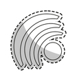 Isolated wifi wave design vector image vector image