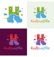 kids castle logo and icon vector image