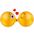 Kissing emoticon vector image vector image