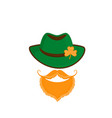 leprechaun with a red beard and mustache in a vector image