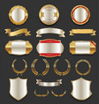 luxury golden labels retro vintage collection 3 vector image vector image
