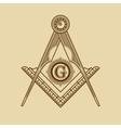 Masonic Freemasonry Emblem Icon Logo vector image