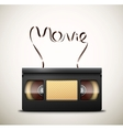 Movie on videotape vector image