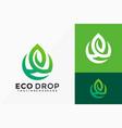 nature eco drop logo design abstract emblem vector image vector image