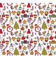 new year christmas objects white seamless pattern vector image vector image
