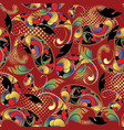 ornamental colorful paisley seamless pattern vector image