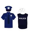 policeman uniform and handcuffs vector image vector image