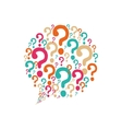 question mark ask icon graphic vector image vector image
