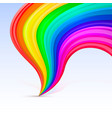 rainbow tornado on the white background vector image vector image